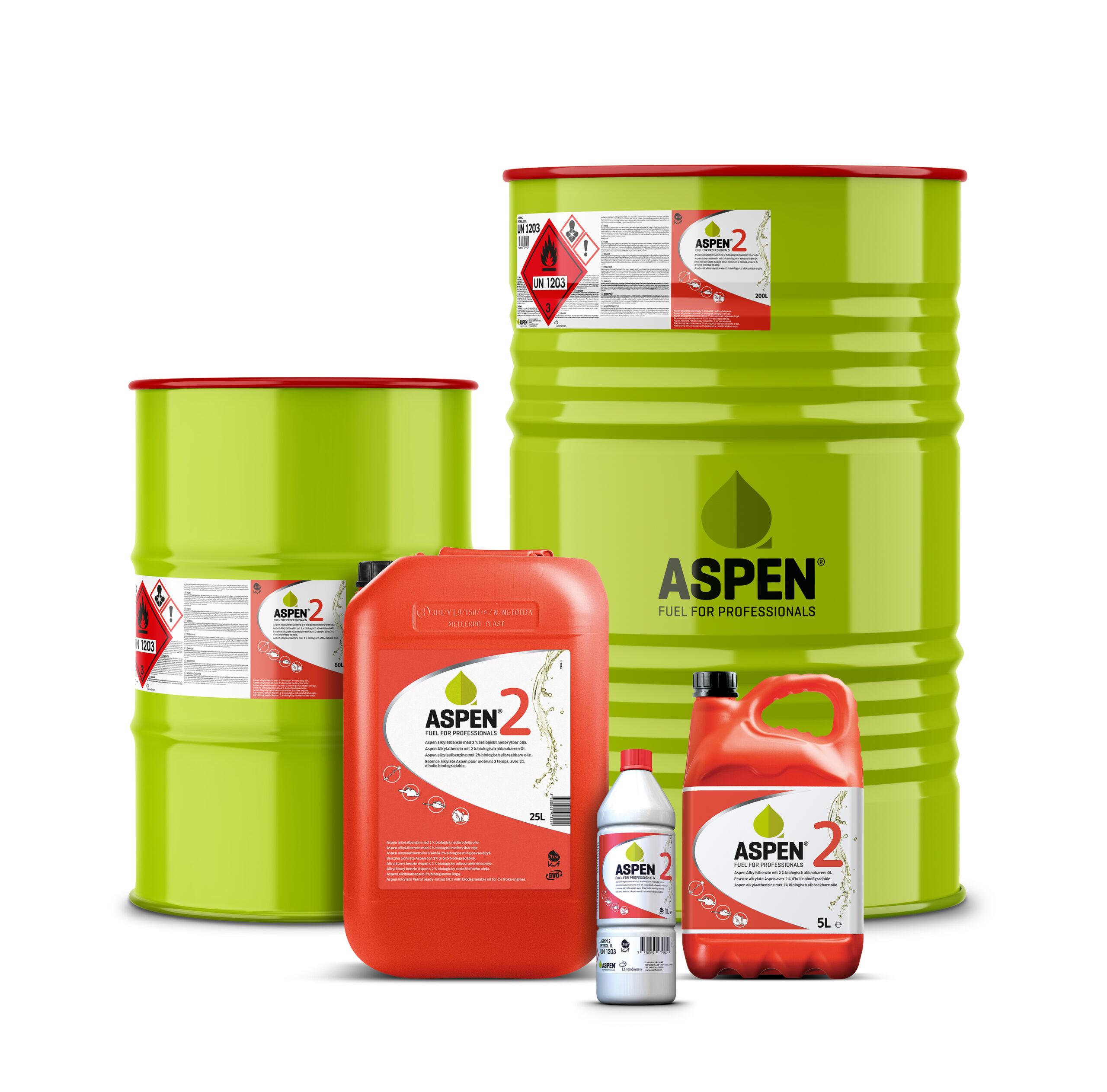 Aspen Fuel introduces 25 and 60 litre drums.